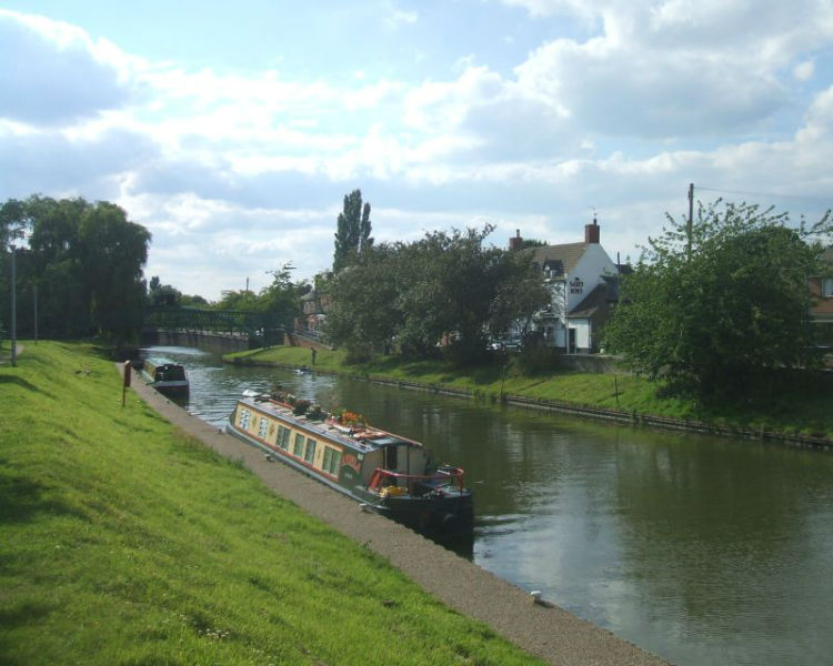 The moorings in Saxilby