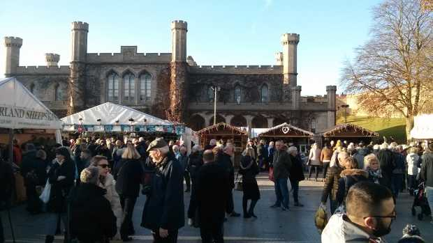 The Market stalls in the Castle